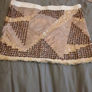 STUNNING beaded mini skirt